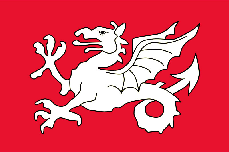 Englisc White Dragon flag